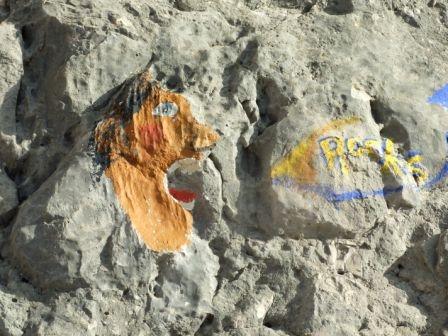 Rysunki na skale