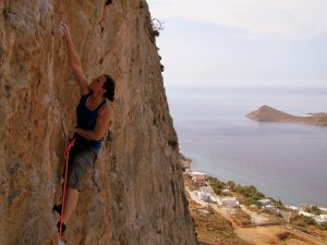 Kalymnos-Iannis-Adolf in the Bay-6c+ RP33